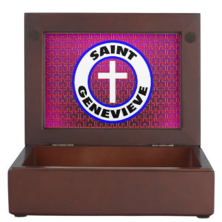 Saint Genevieve Keepsake Box