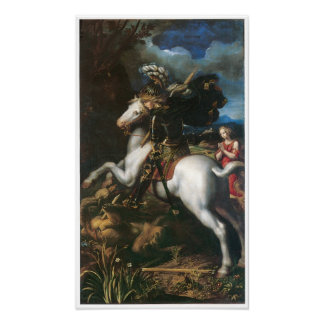 Saint George and the Dragon, Dossi Poster