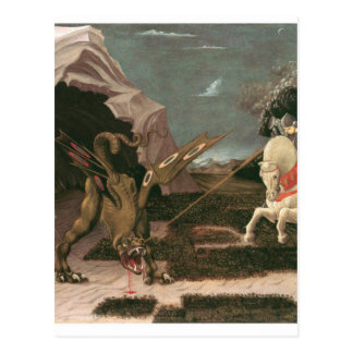 Saint George and the Dragon; Paolo Uccello; c.1460 Postcard