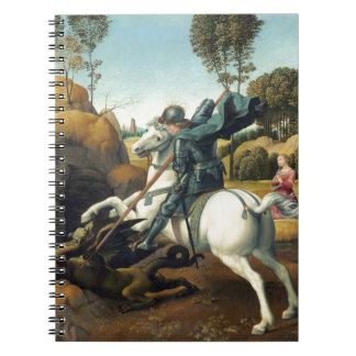 Saint George and the Dragon Spiral Notebooks