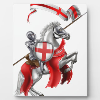 Saint George Medieval Knight on Horse Plaque