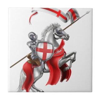 Saint George Medieval Knight on Horse Tile