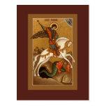 Saint George Prayer Card Postcard