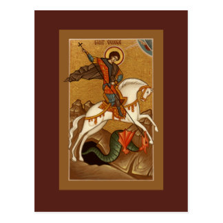 Saint George Prayer Card Postcard