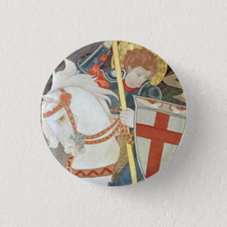 Saint George Slaying the Dragon 1 Inch Round Button