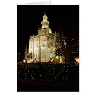Saint George Temple Christmas Card