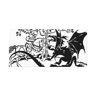Saint George & The Dragon Canvas Print