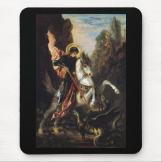Saint George & the Dragon Gustave Moreau Fine Art Mouse Pad
