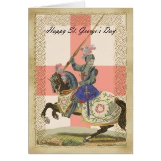 Saint George's Day card, St. George carda Card