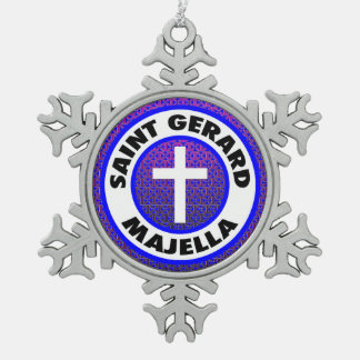 Saint Gerard Majella Snowflake Pewter Christmas Ornament