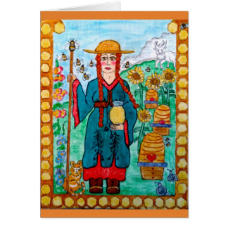 Saint Gobnait (Abigail) of Ireland - Beekeeper Card