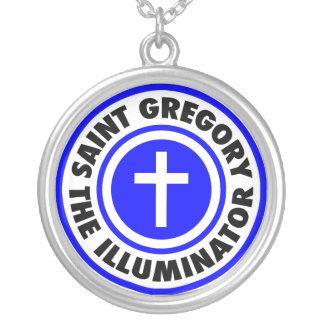 Saint Gregory the Illuminator Silver Plated Necklace