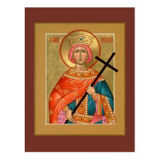 Saint Helen Prayer Card Postcard