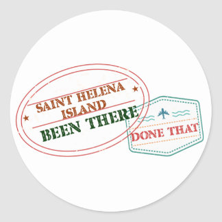 Saint Helena Island Been There Done That Classic Round Sticker