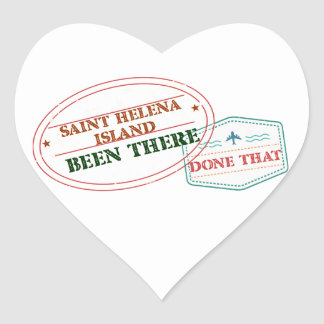 Saint Helena Island Been There Done That Heart Sticker