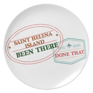Saint Helena Island Been There Done That Plate