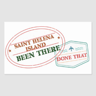 Saint Helena Island Been There Done That Sticker