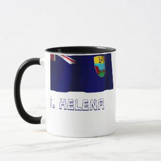 Saint Helena Waving Flag with Name Mug