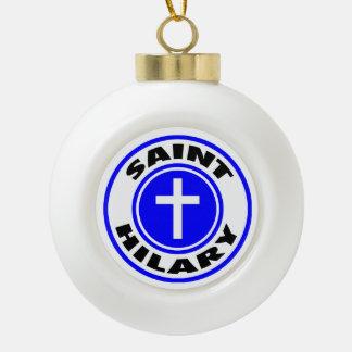 Saint Hilary Ceramic Ball Ornament