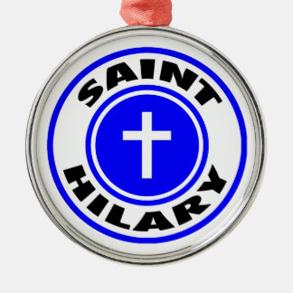 Saint Hilary Silver-Colored Round Ornament