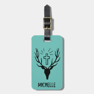 Saint Hubert's Stag Luggage Tag
