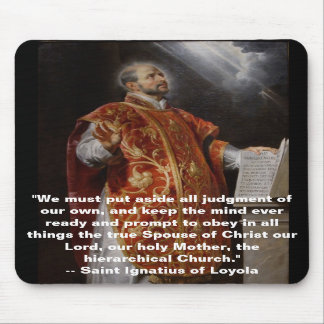Saint Ignatius of Loyola Mousepad