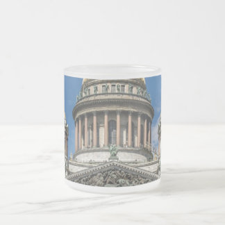 Saint Isaac's Cathedral in Saint Petersburg Russia Frosted Glass Coffee Mug