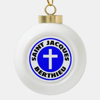 Saint Jacques Berthieu Ceramic Ball Christmas Ornament
