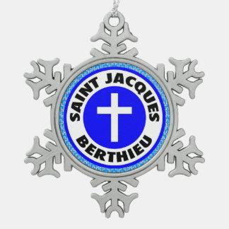 Saint Jacques Berthieu Snowflake Pewter Christmas Ornament