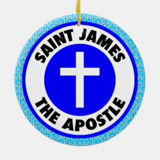 Saint James the Apostle Ceramic Ornament