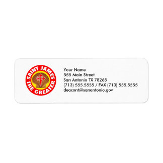 Saint James the Greater Return Address Label