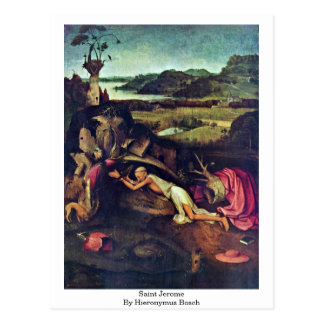 Saint Jerome. By Hieronymus Bosch Postcard