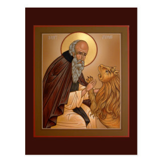 Saint Jerome Prayer Card