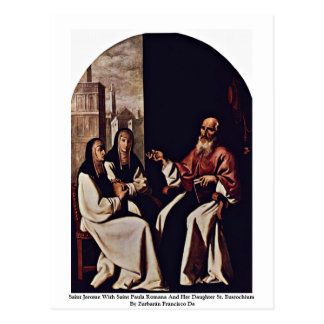 Saint Jerome With Saint Paula Romana Postcard