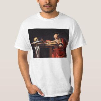 Saint Jerome Writing by Michelangelo Caravaggio T-Shirt
