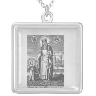 Saint Joan of France and Valois Silver Plated Necklace