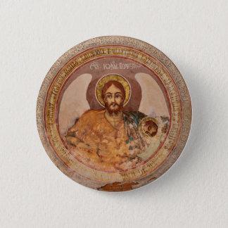 saint john baptist religion orthodox church icon 2 inch round button