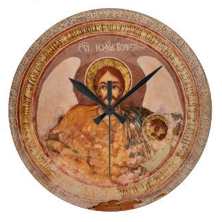 saint john baptist religion orthodox church icon o large clock