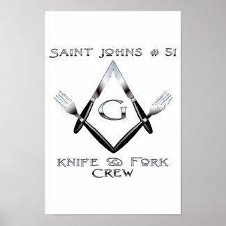 Saint John's Knife and Fork Crew Poster