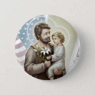 Saint Joseph the Protector 2 Inch Round Button