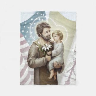 Saint Joseph the Protector Fleece Blanket