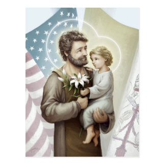 Saint Joseph the Protector Postcard