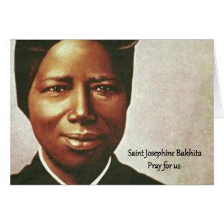Saint Josephine Bakhita Slave Nun Card
