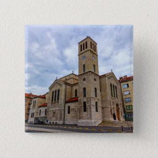 Saint Joseph's Church in Sarajevo. Bosnia and Herz 2 Inch Square Button