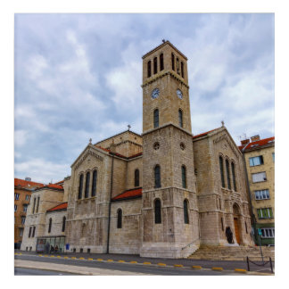 Saint Joseph's Church in Sarajevo. Bosnia and Herz Acrylic Wall Art