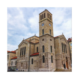 Saint Joseph's Church in Sarajevo. Bosnia and Herz Canvas Print