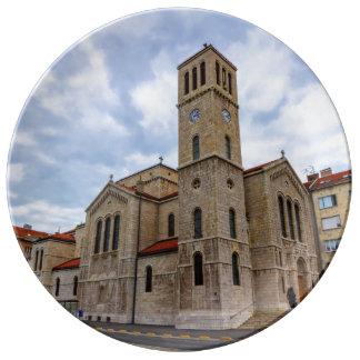 Saint Joseph's Church in Sarajevo. Bosnia and Herz Plate