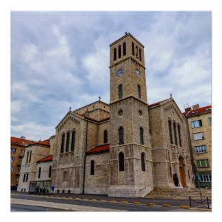 Saint Joseph's Church in Sarajevo. Bosnia and Herz Poster