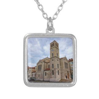 Saint Joseph's Church in Sarajevo. Bosnia and Herz Silver Plated Necklace