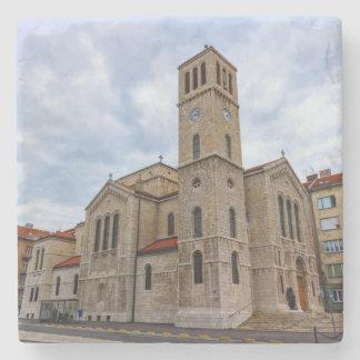 Saint Joseph's Church in Sarajevo. Bosnia and Herz Stone Coaster